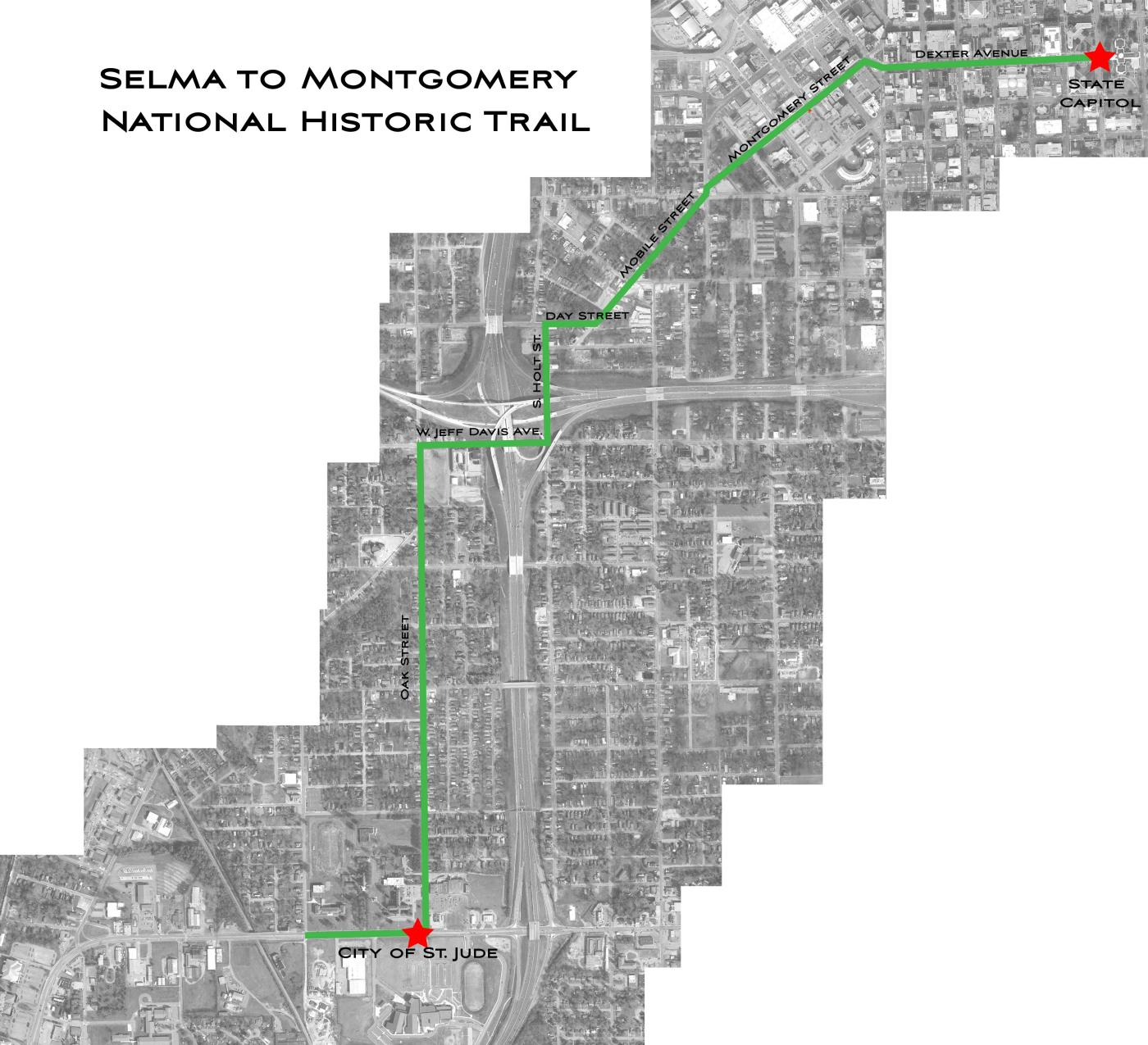 Selma to Montgomery Trail Map