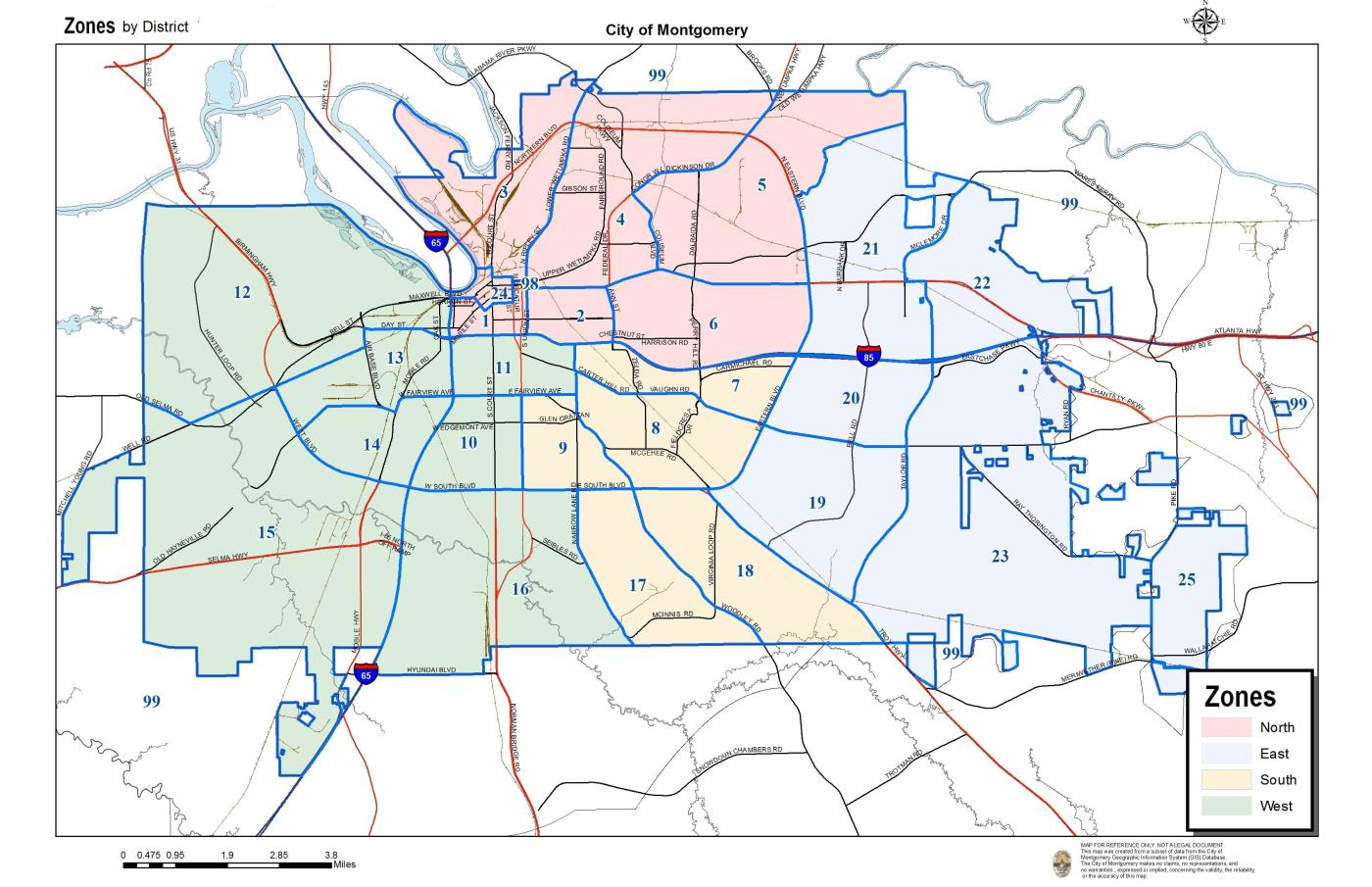 Find Your Zone | City of Montgomery, Alabama Montgomery Al Map on