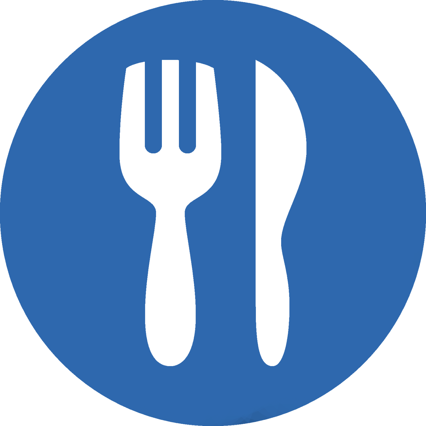food icon blue